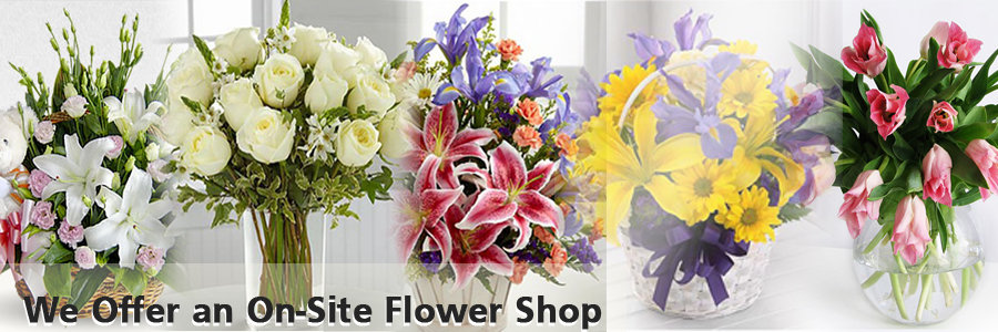We Offer an On-Site Flower Shop